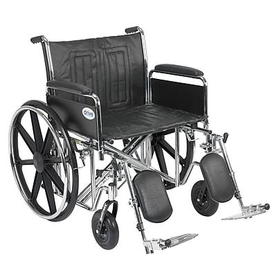 Drive Medical Sentra EC Heavy Duty Wheelchair, Full Arms, Legrest, 24