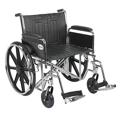 Drive Medical Sentra EC Heavy Duty Wheelchair, Full Arms, Footrest, 24