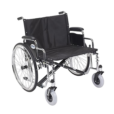 Drive Medical Sentra EC Heavy Duty Extra Wide Wheelchair, Detachable Desk Arms, 26
