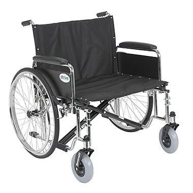 Drive Medical Sentra EC Heavy Duty Extra Wide Wheelchair, Detachable Full Arms, 26
