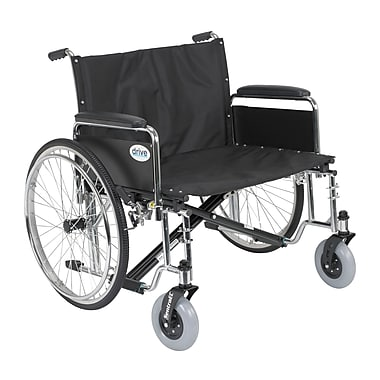 Drive Medical Sentra EC Heavy Duty Extra Wide Wheelchair, Detachable Full Arms, 30