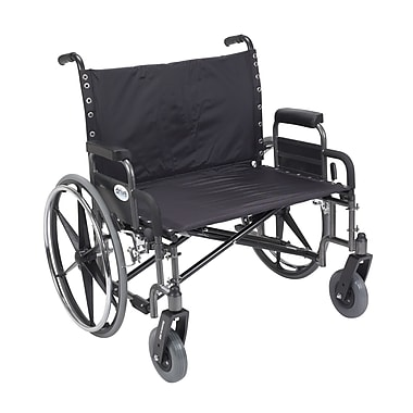 Drive Medical Sentra Extra Wide Heavy Duty Wheelchair, Detachable Desk Arms, 30