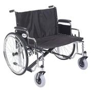 "Drive Medical Sentra EC Heavy Duty Extra Wide Wheelchair, Detachable Desk Arms, 30"" Seat"