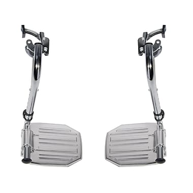 Drive Medical Chrome Swing Away Footrests with Aluminum Footplates