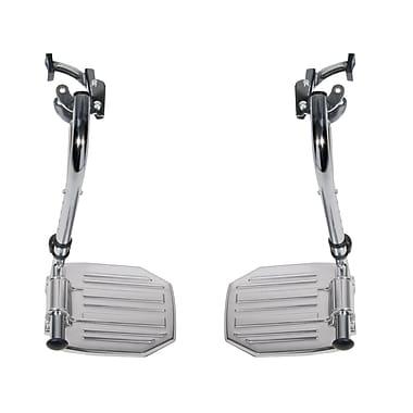 Drive Medical – Repose-pieds en chrome repliables avec plaque en aluminium