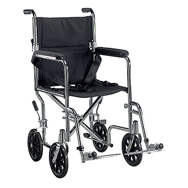Drive Medical Go Cart Transport Wheelchair with Swing Away Footrest, 19