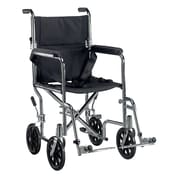 "Drive Medical Go Cart Transport Wheelchair with Swing Away Footrest, 19"" Seat"