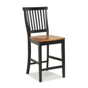Home Styles Counter Stool Wood Black and Cottage Oak