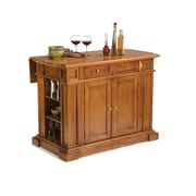 "Home Styles 36"" Asian Hardwood Kitchen Islands"