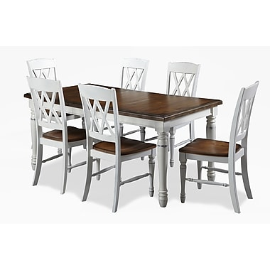 Home Styles Monarch Rectangular Dining Table with Double X-back Chairs