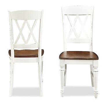 Home Styles Monarch Double X Hardwood Solids Dining Chairs