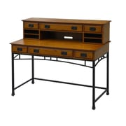 "Home Styles 42"" Modern Craftsman Executive Desk with Hutch"