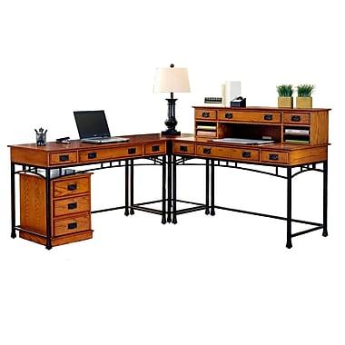 Home Styles Solids Modern Craftsman Corner L Desk & Mobile File