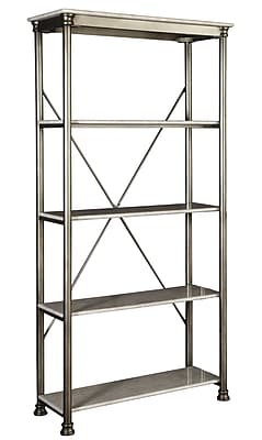 Home Styles Orleans 5-Tier Powder-Coated Metal With Marble Laminate Multi-Function Shelves