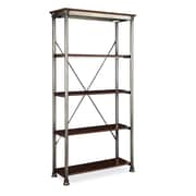 Home Styles 5 Tier Multi Function Powder Coated Metal with Birch Veneer Shelves