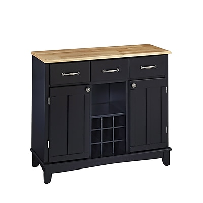 Home Styles Large Solid Hardwoods Buffet with Hutch