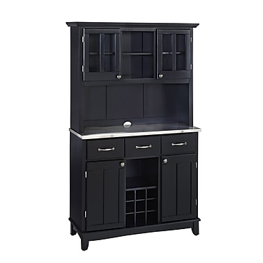 Home Styles Hutch-Buffet Asian Hardwood Buffet and Hutch