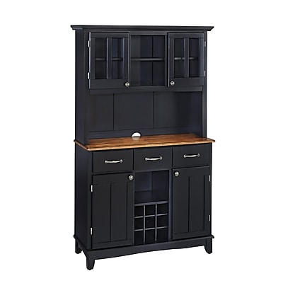 "Home Styles 72.2"" Asian Hardwood Wood Top And Two Door Hutch"