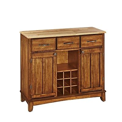 Home Styles Large Asian Hardwood Buffet Server