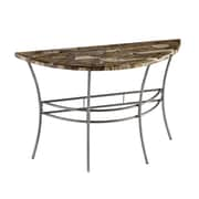"Home Styles 30"" Metal & Petrified Wood Console Table"