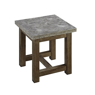 Home Styles Metal, Wood Chic End Table