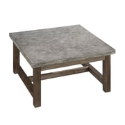 "Home Styles 18"" Molded Concrete & Solid Wood Coffee Table"