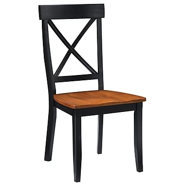 Home Styles Set Of 2 Solid Hardwood Dining Chairs