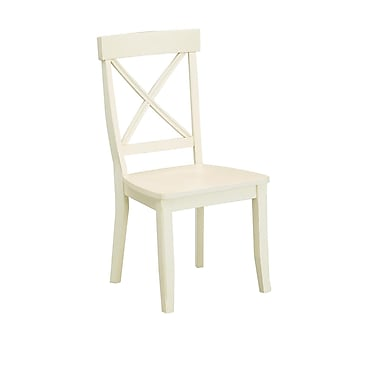 Home Styles Antique White Finish Solid Hardwood Dining Chair