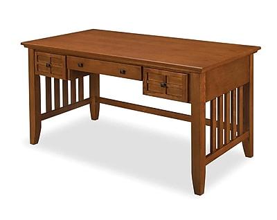Home Styles Arts Crafts Executive Desk Cottage Oak 518015