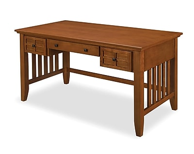 Home Styles Arts & Crafts Executive Desk, Cottage Oak (5180-15)