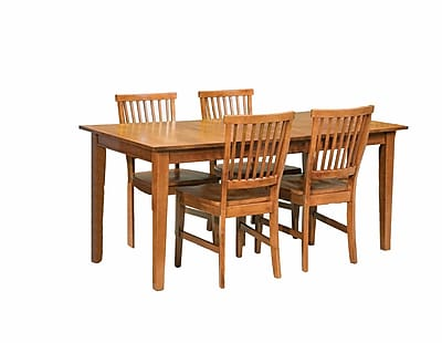 Home Styles Art & Crafts Dining Set Cottage Oak Finish 5 Piece
