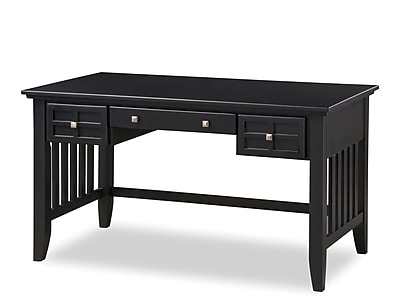 Home Styles Arts and Crafts Executive Desk, Black (5181-15)