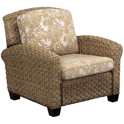 Home Styles Cabana Banana II Fabric Mahogany Wood Chair