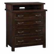 Home Styles Cabin Creek Mahogany Solids and Veneers Media Chest
