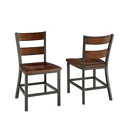 Home Styles Cabin Creek Mahogany Solids and Veneers Dining Chairs
