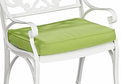 Home Styles Fabric Green Apple Outdoor Seat Cushion