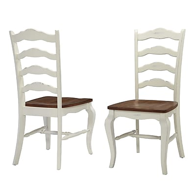 Home Styles French Countryside Rubberwood Solids Dining Chair Pair