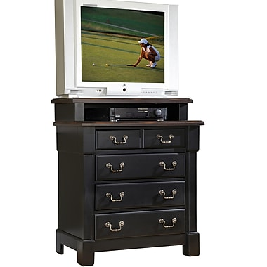 Home Styles Aspen Collection Media Chest Wood & Metal Standard chest