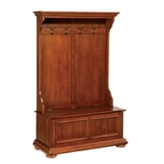 "Home Styles 64"" Poplar Hardwood Solids & Cherry Veneers Hall Tree and Storage Bench"