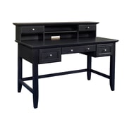 "Home Styles 54"" Asian Hardwoods Executive Desk and Hutch"