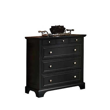 Home Styles Bedford Black Hardwood Solids & Engineered Wood Drawer Chest