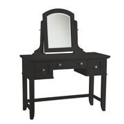 """Home Styles 57"""" Wood Bedford Vanity Table Black"""