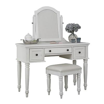 Home Styles Bermuda Mahogany Vanity and Bench