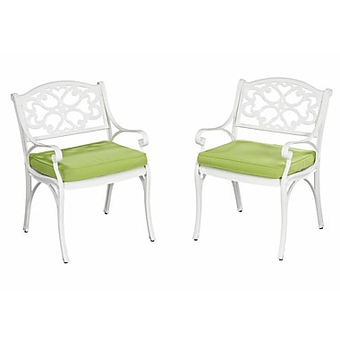 Home Styles Biscayne Patio Cast Aluminum Dining Arm Chair