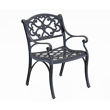 Home Styles Biscayne Black Solid Cast Aluminum Dining Chairs Set of 2