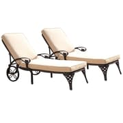 Home Styles Biscayne Chaise Aluminum Lounge Chairs