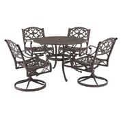 "Home Styles 29"" Cast aluminum Outdoor Dining Set"