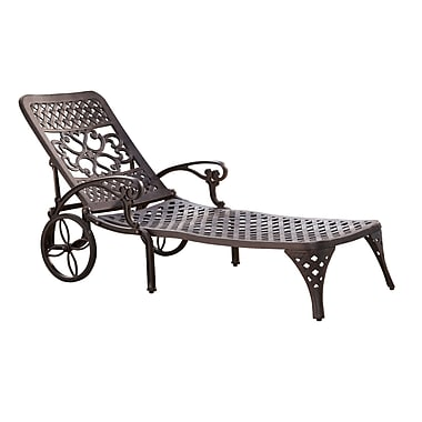 Home Styles Biscayne Chaise Aluminum Lounge Chair