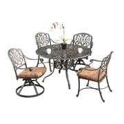 "Home Styles 48"" Floral Blossom 5 Piece Dining Set"