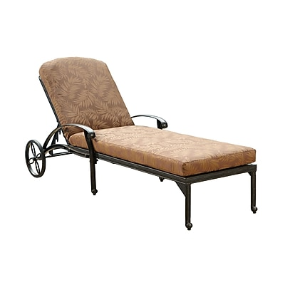Home Styles Floral Blossom Chaise Lounge Chair with Cushion Aluminum